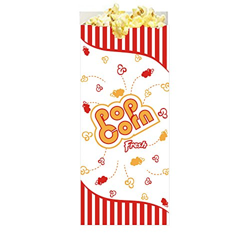 Popcorn Bag Halloween Costume (Hoosier Hill Farm Popcorn Case of 100 Premium Quality 1 Ounce (Oz) Popcorn Theater Style Bags)