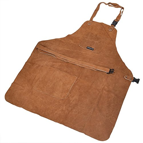 3 Pocket Suede Leather Woodcarvers Woodworkers Chasers Gunsmith Woodcarvers Bladesmith Forging Apron by UJ Ramelson Co