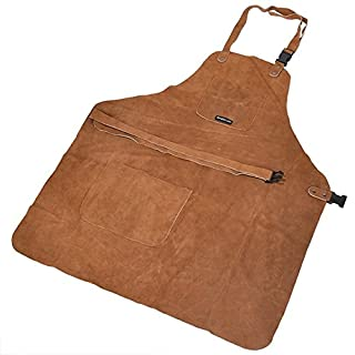 3 Pocket Suede Leather Woodcarvers Woodworkers Chasers Gunsmith Woodcarvers Bladesmith Forging Apron (B00RYAOA4G) | Amazon price tracker / tracking, Amazon price history charts, Amazon price watches, Amazon price drop alerts