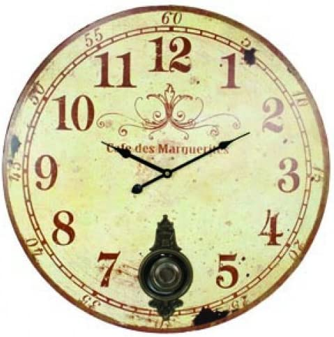 Large 23 Wall Clock With Pendulum Antique French Provincial Style Amazon Ca Home Kitchen