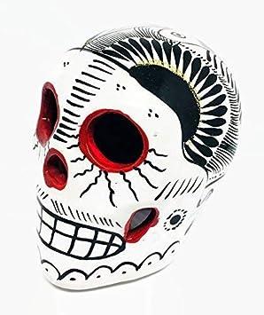 Blanco Negro Y Rojo Día De Los Muertos Sugar Skull México Hecho A
