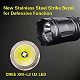 klarus XT11 1060 Lumens Dual Tail Switches Tactical Flashlight, CREE LED Flashlight with USB Rechargeable 18650 Battery, 3 Lighting Modes Plus Strobe, IPX8 Water Resistant