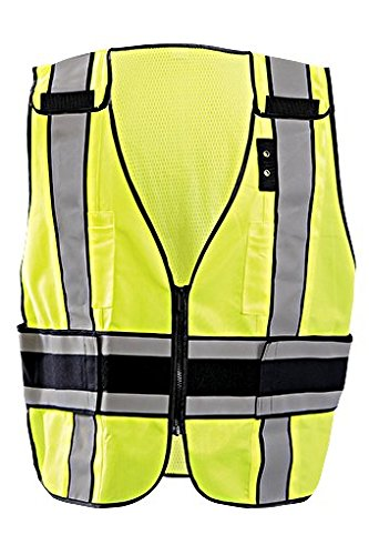Occunomix LUX-DPS-DOR Yellow XL Polyester Mesh High-Visibility Vest - 021844-61660 [PRICE is per EACH]
