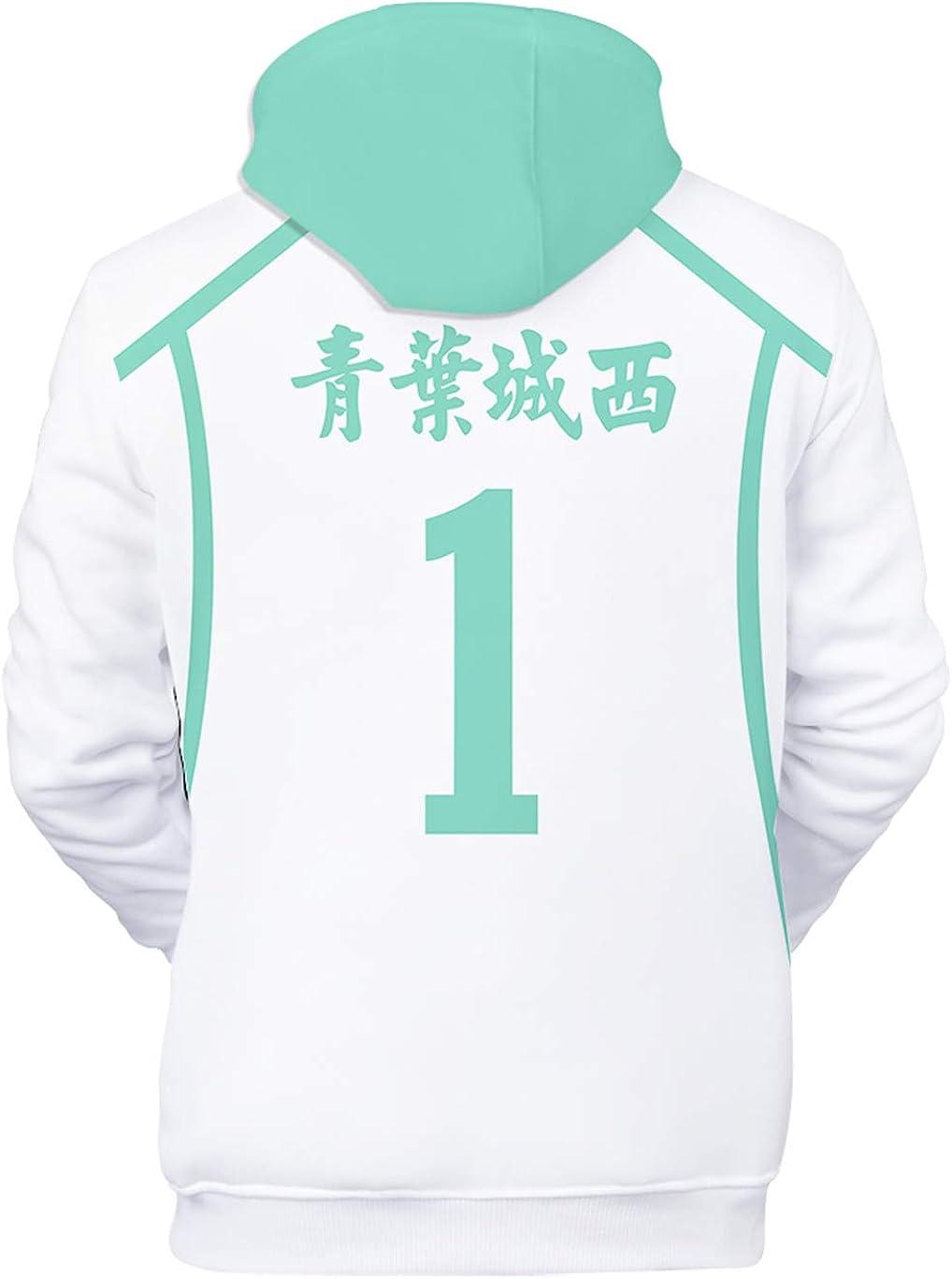 Flyself Unisexe Haikyuu Sweats /à Capuche Hoodie Sweat Cosplay Karasuno High School Volleyball Club Hinata Shyouyou Kageyama Tobio Sportswear Pull Tops