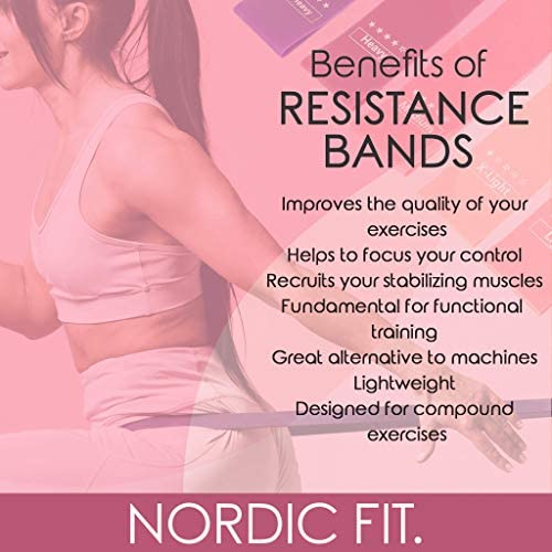Nordic Fit Adjustable Weighted Dance & Fitness Professional Hula Hoop with Resistance Bands, Great for Burning Fat, Dancing, Exercise and Weight Loss - Start The Year with a New You, Transform 6