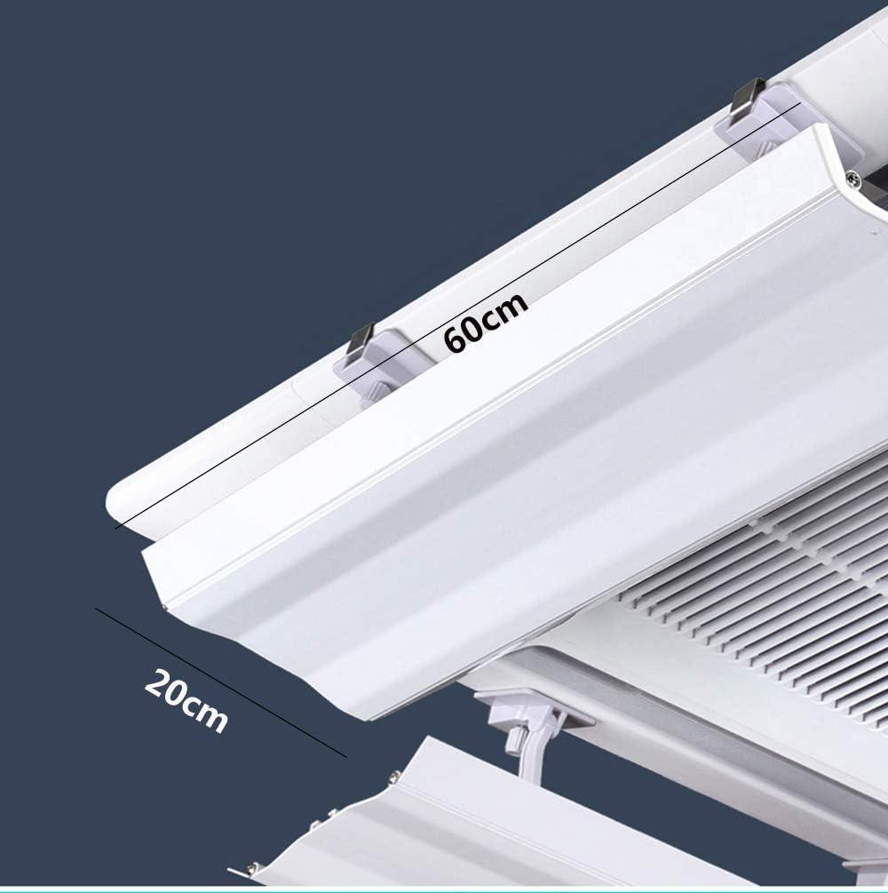 Yingpai-Radiation protection blanket Aria condizionata Deflettore per Aria condizionata centrale nel soffitto controllo dellangolo della calda aria 40 cm
