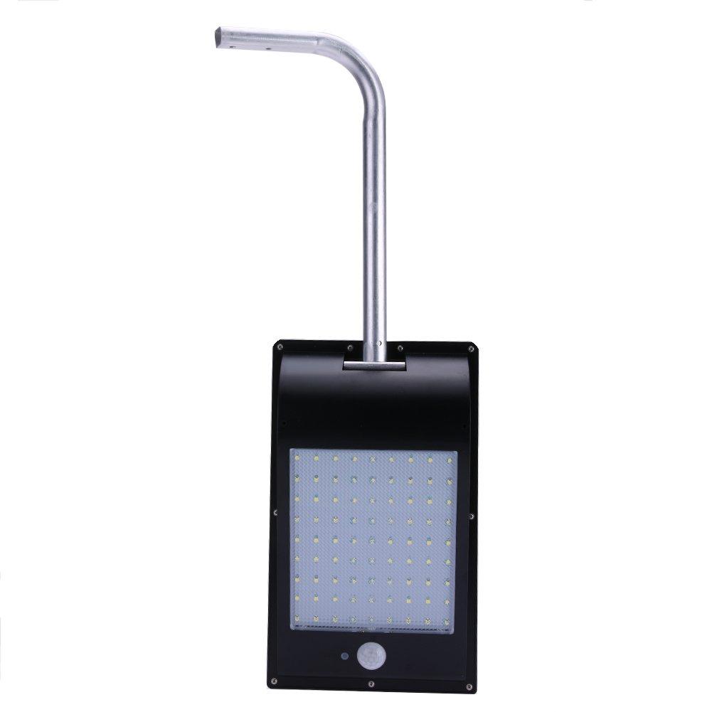 Vanpower 81 LED Waterproof PIR Motion Sensor Solar Power Outdoor Security Lamp White