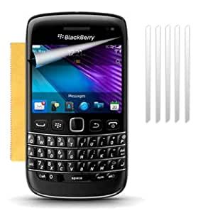 Fone-Case BlackBerry Bold 9790 Ultra Transparent LCD Screen Protector Guards & Micro Fibre Cleaning Cloth (Pack Of 5 )