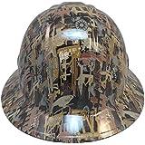 Texas America Safety Company Oilfield Camo Full Brim Style Hydro Dipped Hard Hat - White