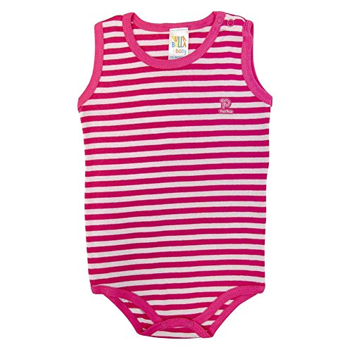 Pulla Bulla Toddler Striped Sleeveless Bodysuit for Size 1 Year- - Striped Pink Onesie