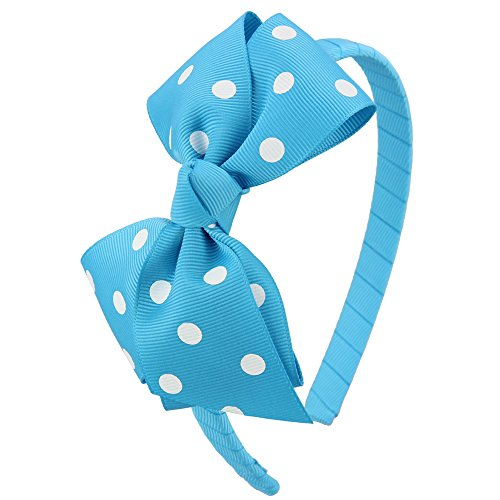 (7Rainbows Fashion Polka Dot Turquoise Bows Headbands for Toddlers Girls (FS060-340D029))