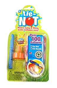 Tie-Not Water Balloons with Nozzle and Knotter with 100 Bonus Balloons