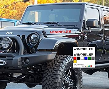 Red set Decal sticker Compatible with Jeep Wrangler RUBICON Jk