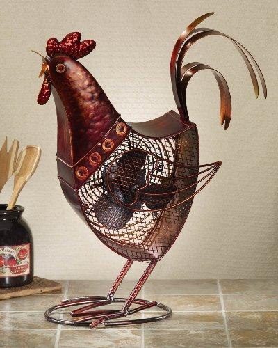 Deco Breeze DBF0360 Decorative Figurine 30-Watt Metal Fan, Rooster
