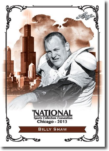 2013 Leaf National Redemption Exclusive NSCC Promo #BS1 Billy Shaw - HOF / Never played in NFL (Football)(AFL Buffalo Bills) Shaw Buffalo Bills