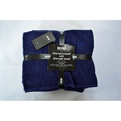 Hugo Boss funda 2 piezas Baño y juego de toallas Eclipse azul marino