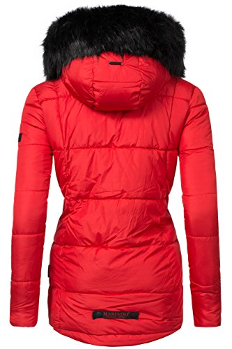 Marikoo Jale Chaqueta acolchada de invierno para mujer Rojo