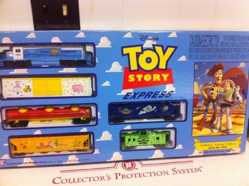 Disney Toy Story Express 1996 HO Scale Train Set Diesel Loco 5 Freight Cars (Diesel Freight Set)