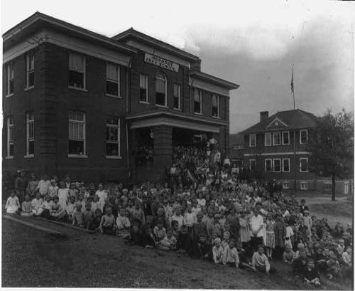 HistoricalFindings Photo: Woodside School,Community Building,Greenville,South Carolina,SC,outside building -