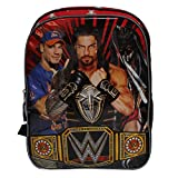 WWE Championship Belt Black & Red Large Boys' School Backpack -John Sina