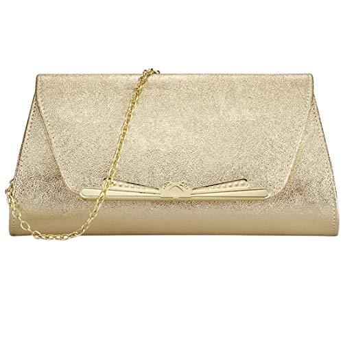(Womens Evening Clutch Bridal Prom Handbag shoulder bag Party Bag Wedding Purse with Detachable Chain)