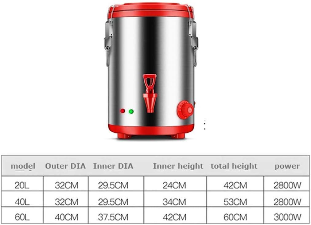 doppio isolamento di grande capacit/à Secchiello per bollire elettrico con rubinetto secchio per t/è elettrico in acciaio inossidabile antiscottat secchio per t/è al latte commerciale 2800W // 3000W