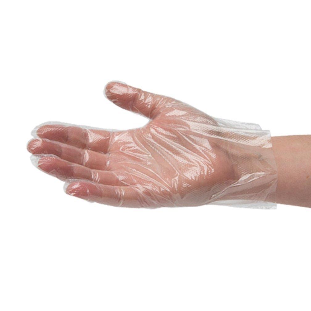 HOSL Disposable Food Preparation Poly Gloves Large Size 1000 PCS Food Grade
