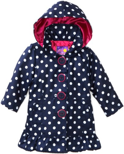 Pink Platinum Baby Girls' Polka Dot Trench Jacket