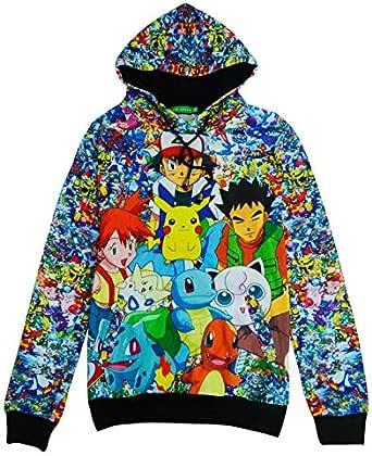 Cartoon Anime Hoodie Pikachu Pet Elf Men's Long Sleeve Jacket