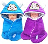 Brandonn Pack Combo Of 2 New Born Baby All Season Use 3 In 1 Baby Wrapper Or Blanket Cum Sleeping Bag Cum Beeding(0-6Months)(Assorted)