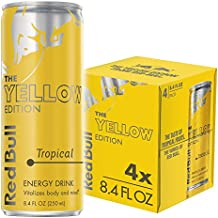 Red Bull Yellow Edition, Tropical Energy Drink, 4pk, 8.4 oz Cans