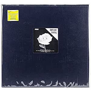 Pioneer 12 Inch by 12 Inch Snapload Sewn Leatherette Frame Cover Memory Book, Navy Blue