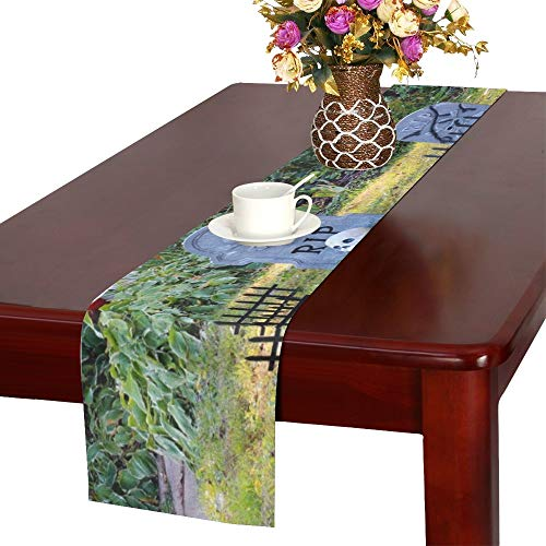 (Halloween Outdoor Decoration Front Yard Private Table Runner, Kitchen Dining Table Runner 16 X 72 Inch for Dinner Parties, Events,)