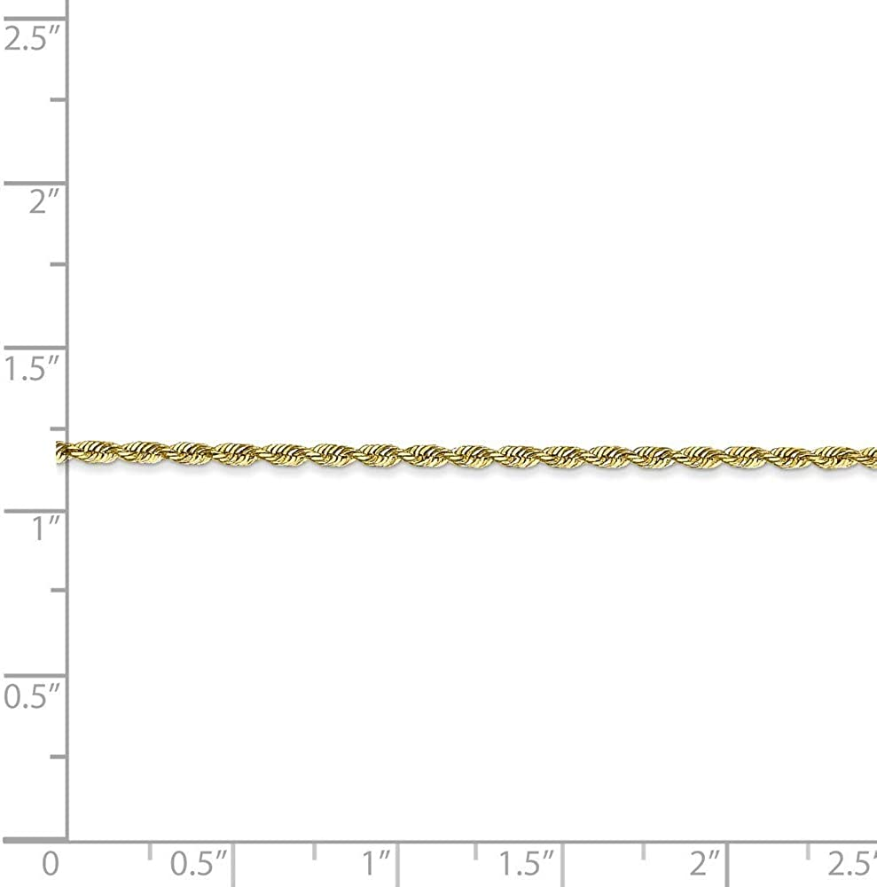 10 inches Roy Rose Jewelry 10K Yellow Gold 1.84mm Diamond-cut Quadruple Rope Chain ~ length