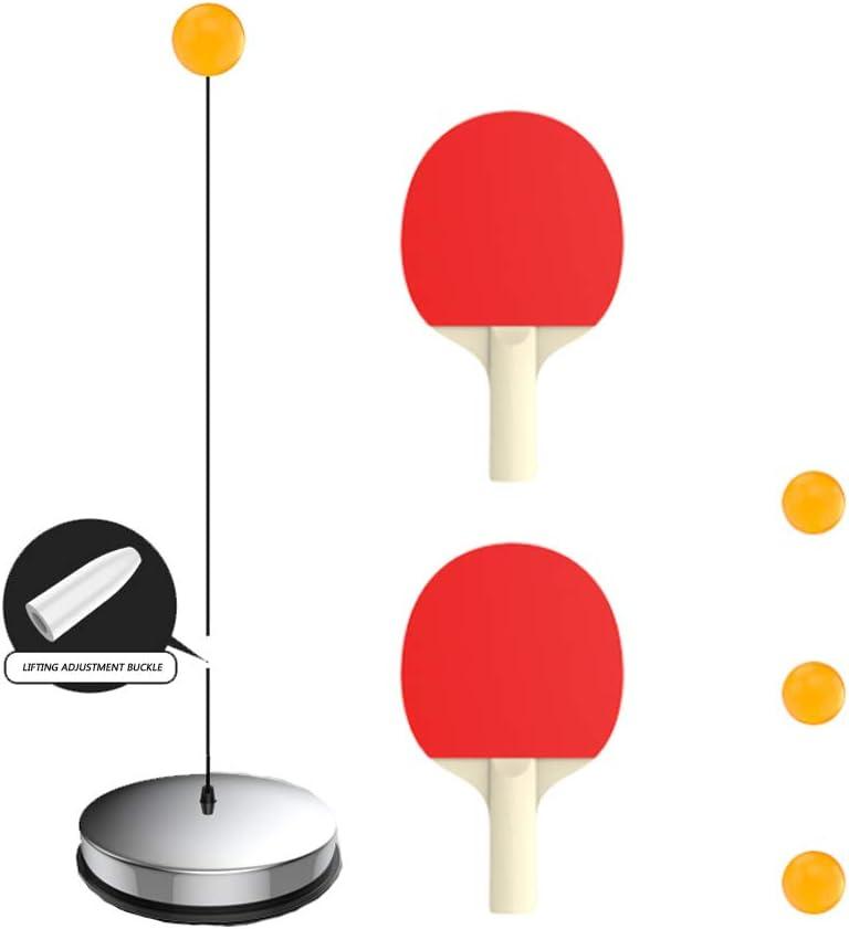 JMFHCD Entrenador de Tenis de Mesa Portátil Tenis de Mesa Máquina de Entrenamiento de Eje Suave Elasticidad Kid Adulto Ping Pong Entrenador de Práctica