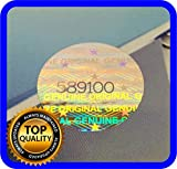 180 pcs Hologram labels with serial numbers, warranty stickers seals round .59 inch
