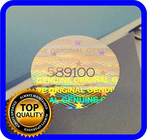 180 pcs Hologram labels with serial numbers, warranty stickers seals round .59 - Warranty Number