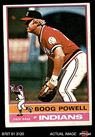 new arrival 93dc6 2f11d Amazon.com: 1976 Topps # 45 Boog Powell Cleveland Indians ...