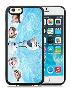 Case For iPhone 6,Frozen Anna And Olaf Black iPhone 6 (4.7) TPU Case Cover