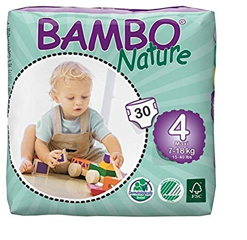Bambo Nature Baby Diapers Classic, Off-White, Size 4, 360 Count, Off-White by Bambo Nature (Image #1)
