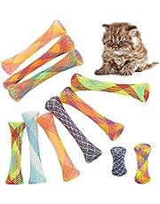 Conruich 25 stuks kat lente speelgoed huisdier kat speelgoed kleurrijke spiraal katten speelgoed creatief nylon mesh telescopische buis interactief kattenspeelgoed set voor katten huisdieren nieuw cadeau