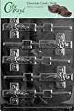 Cybrtrayd R023 Cross Lolly Chocolate Candy Mold with Exclusive Cybrtrayd Copyrighted Chocolate Molding Instructions plus Optional Candy Packaging Bundles