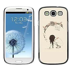 Caucho caso de Shell duro de la cubierta de accesorios de protección BY RAYDREAMMM - Samsung Galaxy S3 I9300 - Spring Deep Reality Boring Meaning