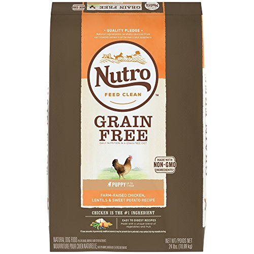 NUTRO Grain Free Puppy Farm-Raised Chicken, Lentils and Sweet Potato Dry Dog Food 24 Pounds