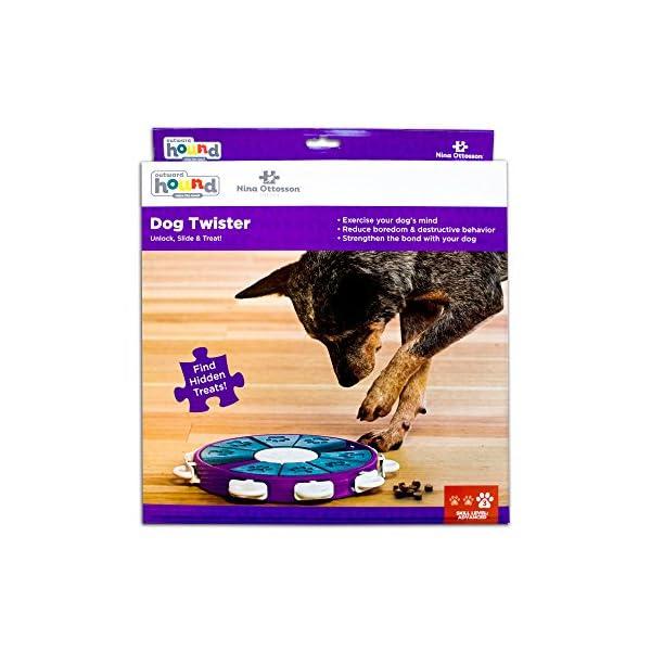 Outward Hound Nina Ottosson Dog Twister Dog Puzzle Toy Dog Game 5