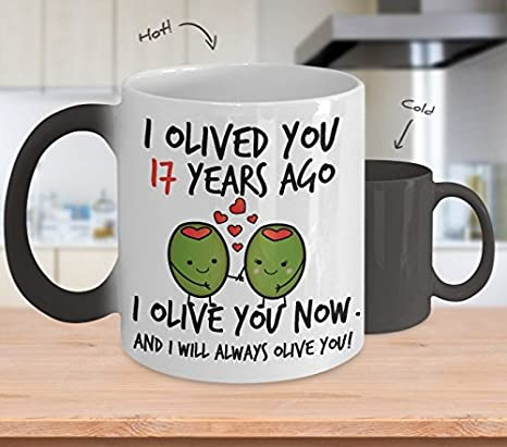 amazon com 17th wedding anniversary gifts for him i olived you