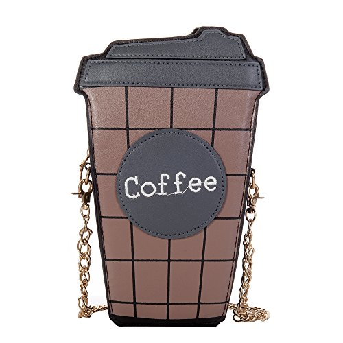 Handbags Wholesale Womens (QZUnique Women's Mini Summer Cute Cartoon Coffee Cup Pattern Clutch Cross body Handbag Purse)