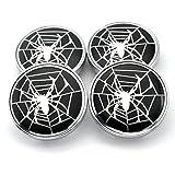 60mm rim - 60mm Silver Spider Styling Car Wheel Center Hub Caps Set of 4