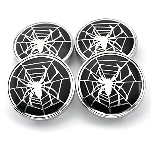 Caps Center Rim Chrome (60mm Silver Spider Styling Car Wheel Center Hub Caps Set of 4)