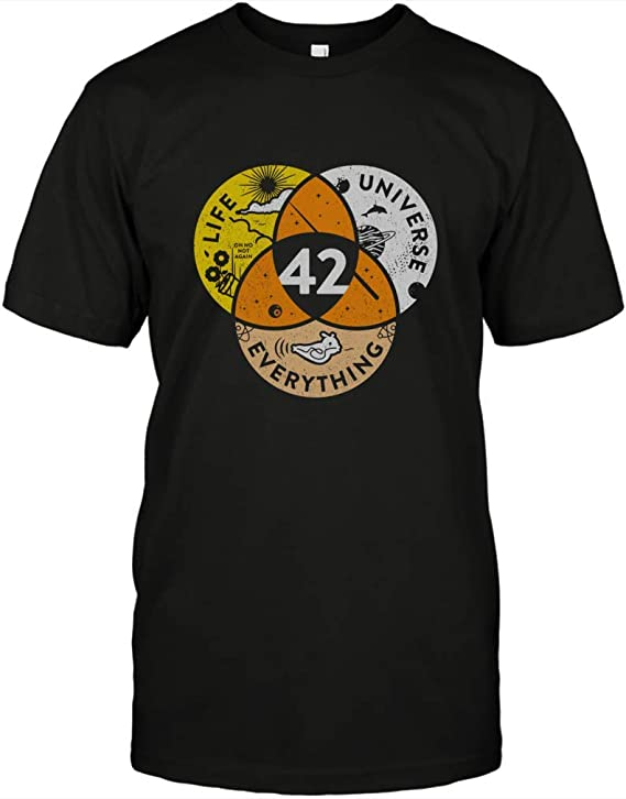 Amazon.com: 42 Answer to Life Universe and Everything T-Shirt Funny Science Gift Vintage T Shirt: Clothing